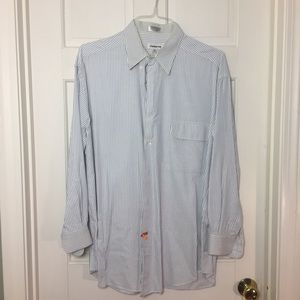 Claiborne blue pinstripe button down. 16 1/2 32-33